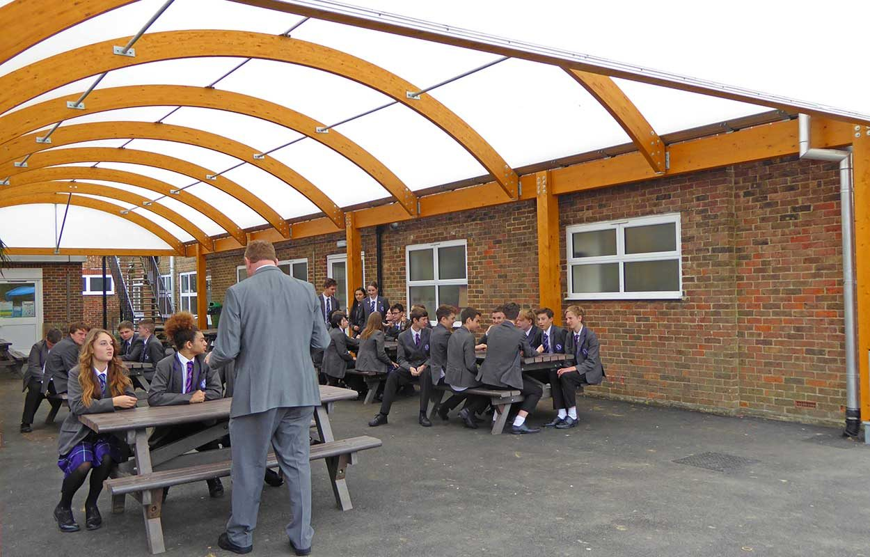 Worthing High School timber Fordingbridge canopy