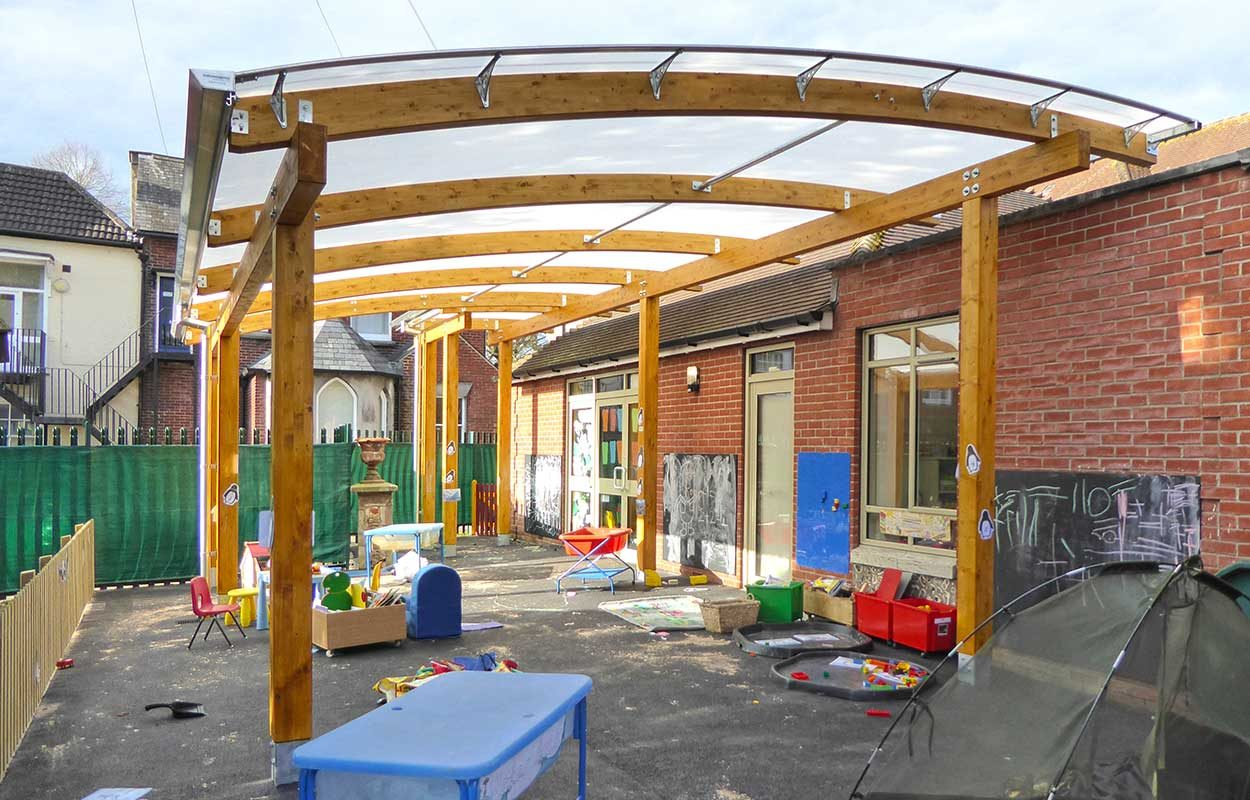 St Osmunds primary School Fordingbridge Timber Canopy