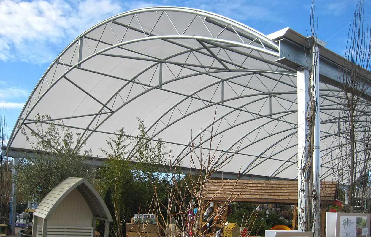 Warbreck Garden Centre Fordingbridge steel canopy