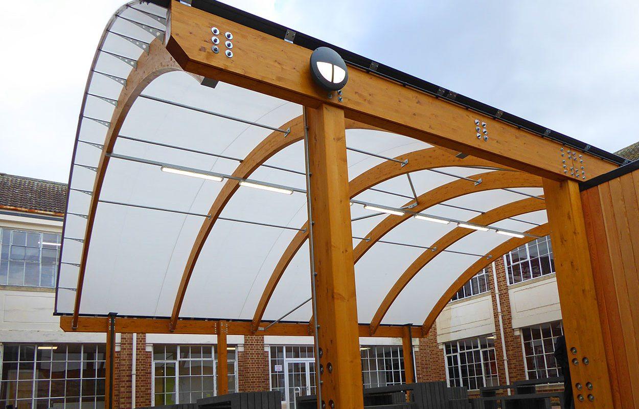 Pitville School barrel vault Fordingbridge canopy