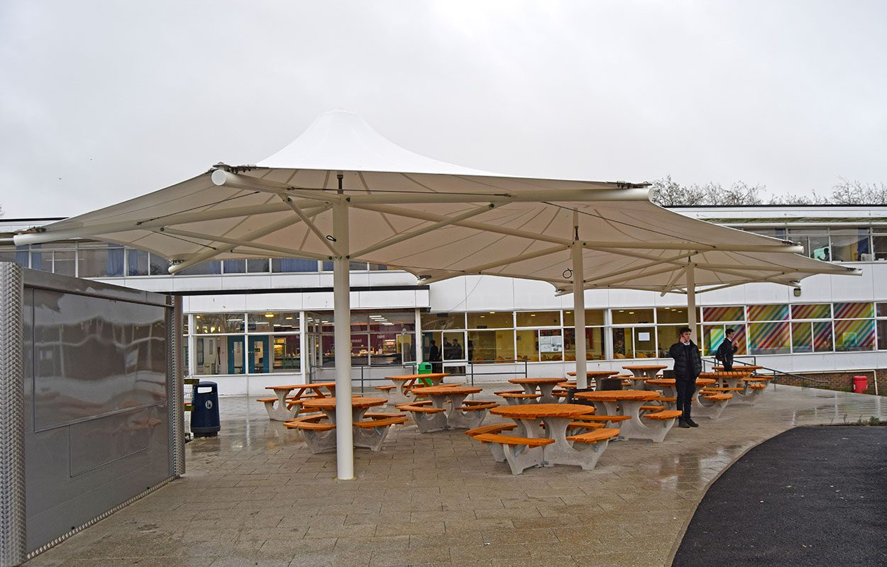 Watford grammar school Fordingbridge triple conic canopy