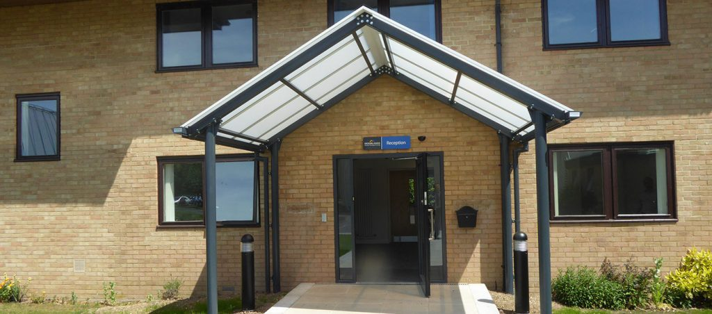Moorlands College Fordingbridge entrance canopy