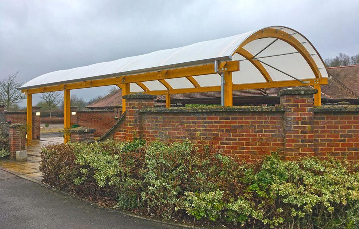 Basingstoke Crematorium Fordingbridge barrel vault canopy