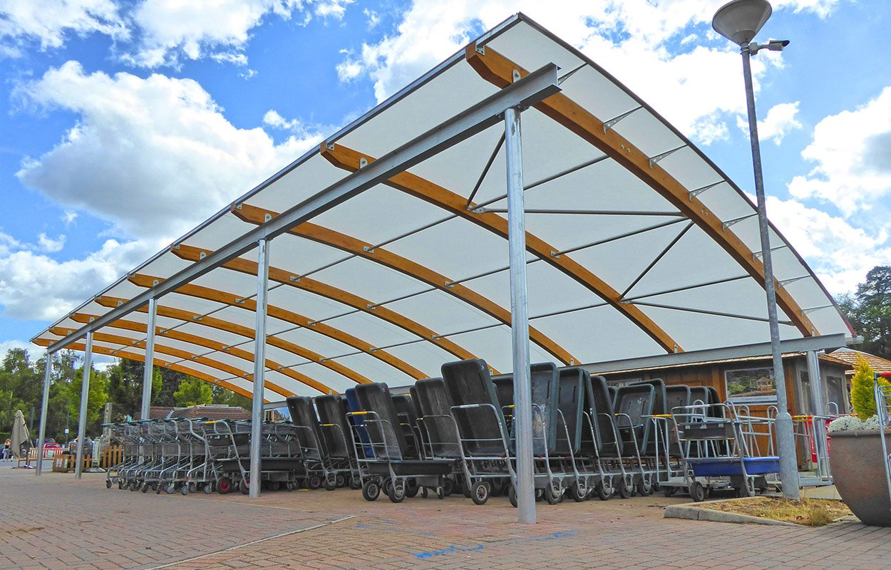 Bagshot Longacres trolley park Fordingbridge canopy