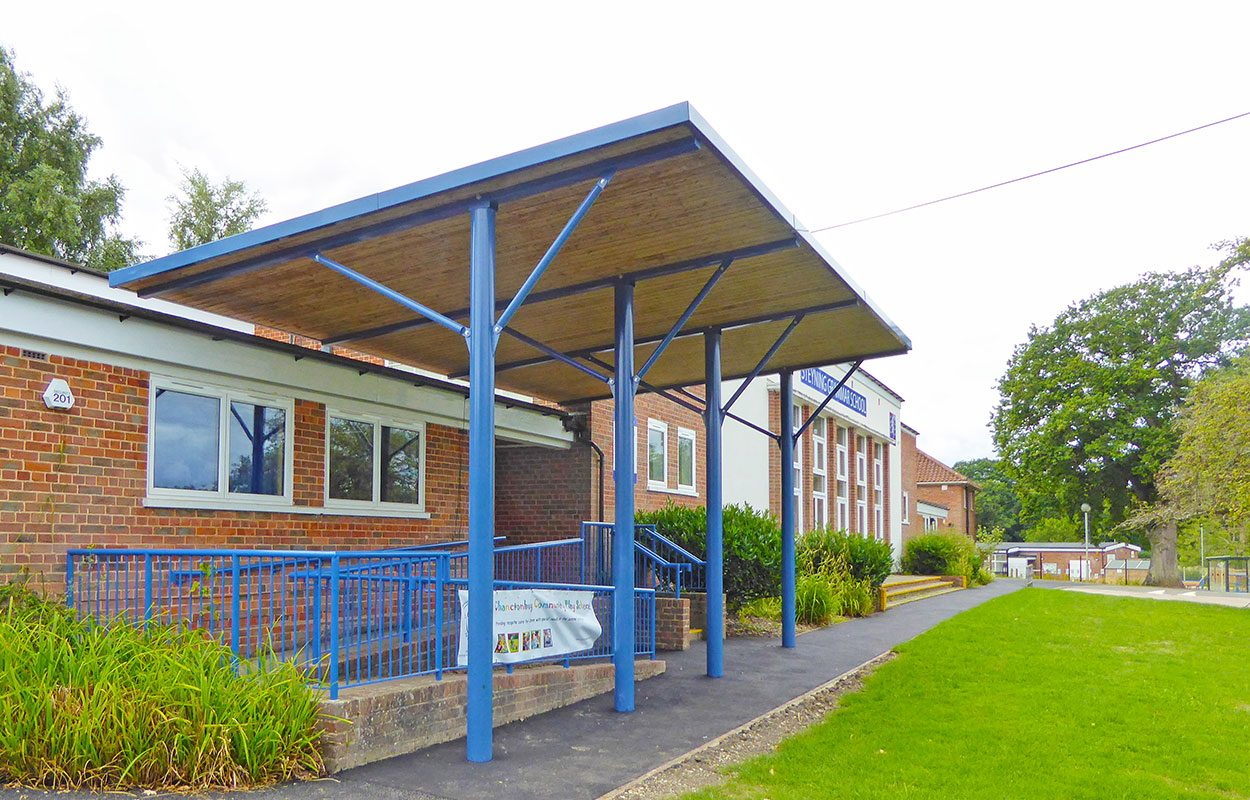 Thakeham First & Steyning Grammar School Fordingbridge entrance canopy