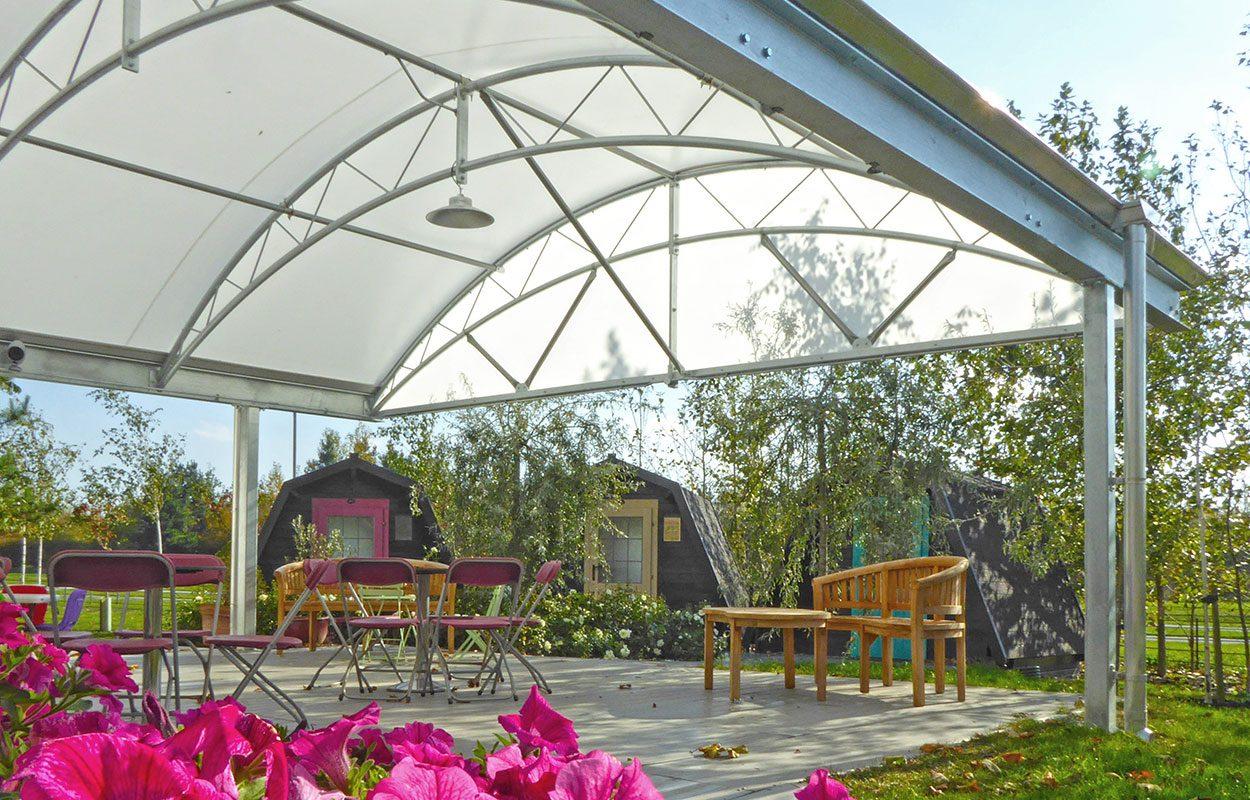 Barnards Farm Fordingbridge steel canopy