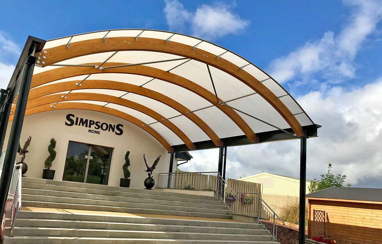 Simpsons Garden Centre  Fordingbridge hybrid entrance canopy