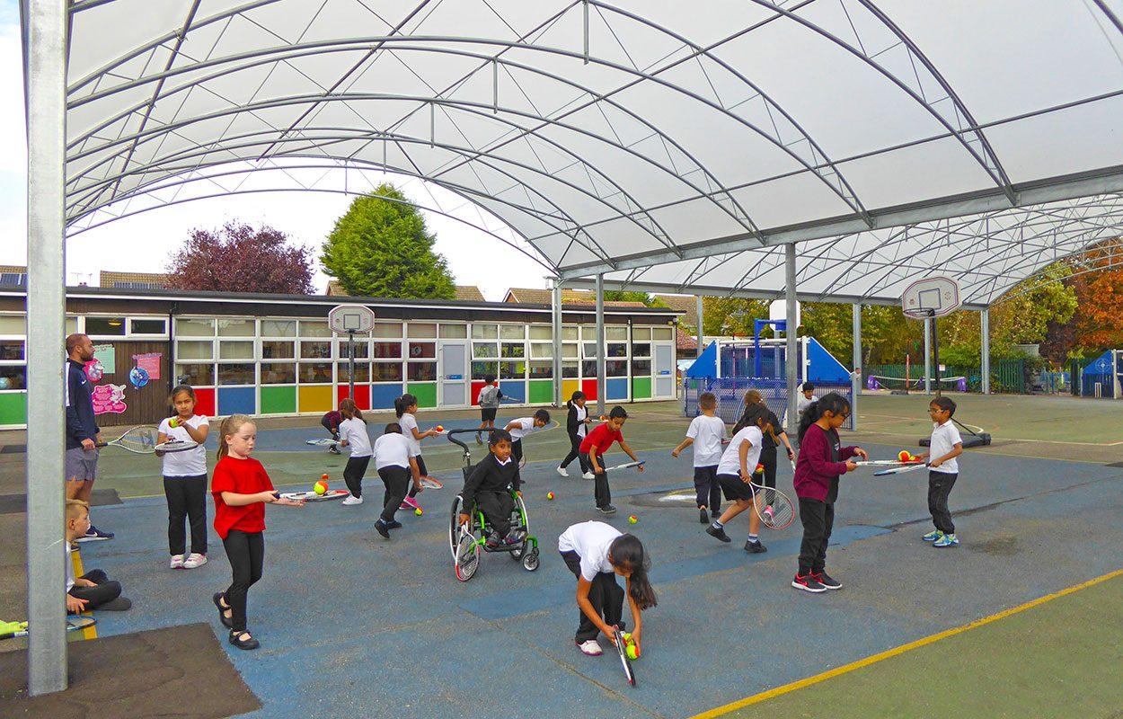 Fulbridge Academy Fordingbridge steel canopy