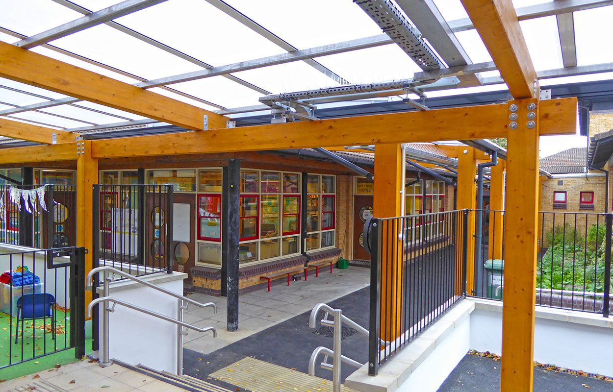 Smitham Primary School Fordingbridge timber canopy