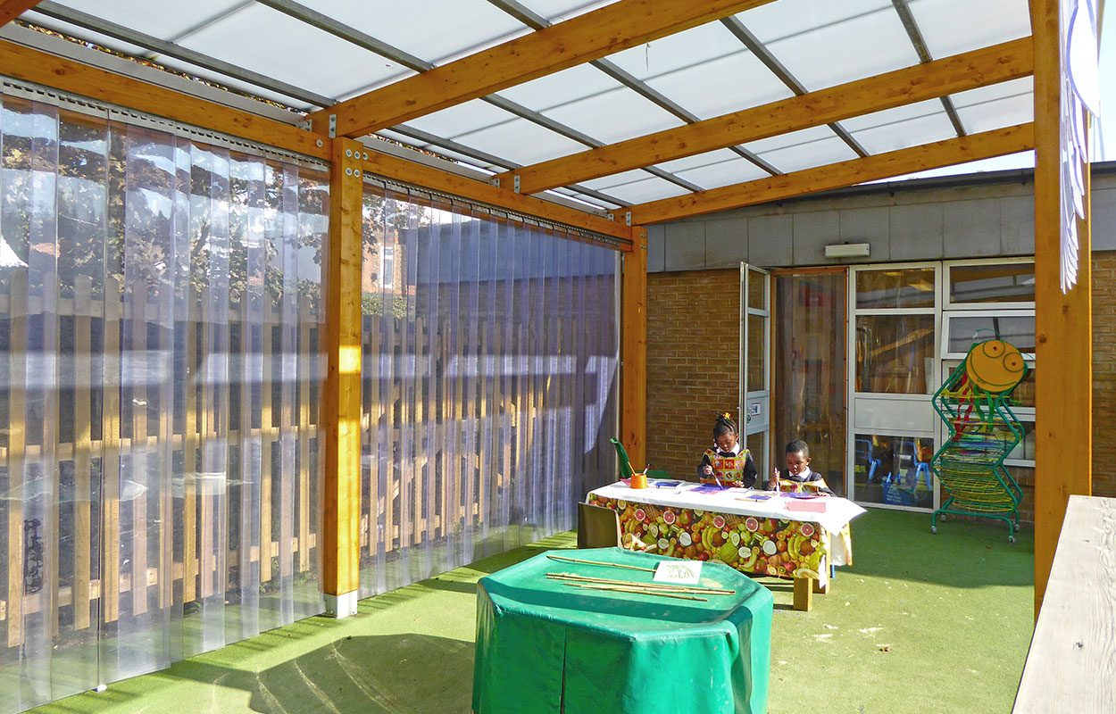 St Lukes School Fordingbridge timber canopies