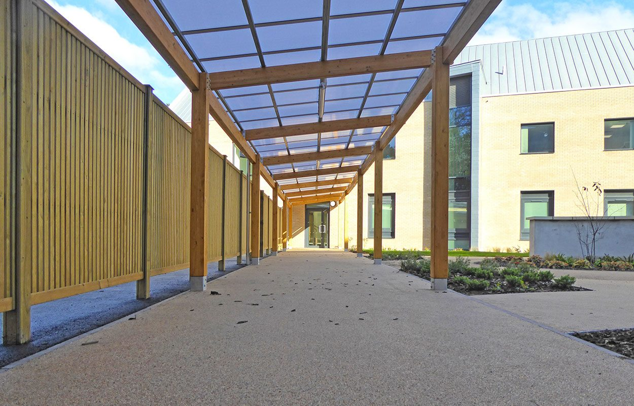 Cripps Healthcare Fordingbridge timber walkway