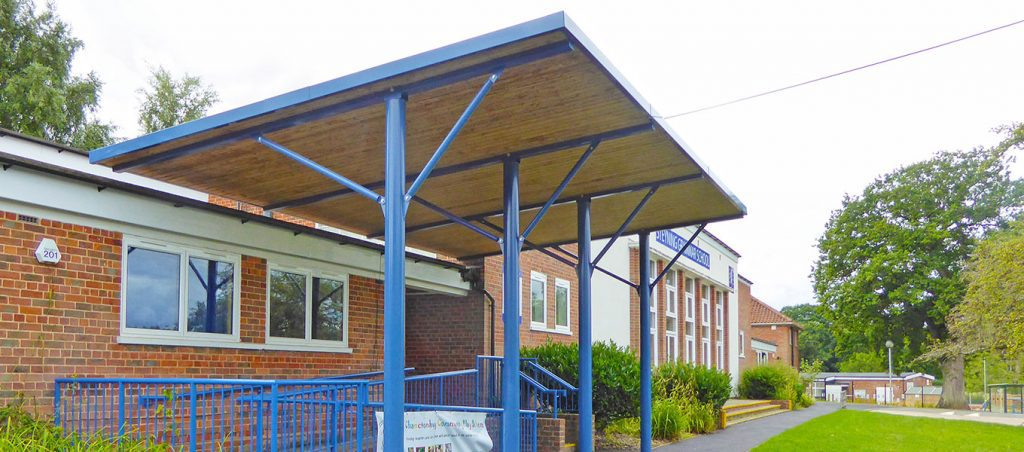Thakeham First & Steyning Grammar entrance canopy Fordingbridge