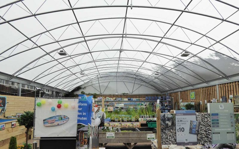 Bybrook Barn garden centre steel canopy