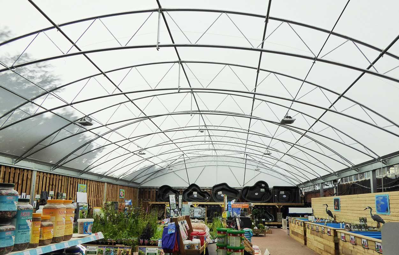 Bybrook Barn – Steel & Fabric Garden Centre Canopy