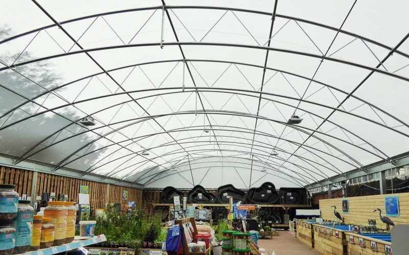 Bybrook Barn steel canopy