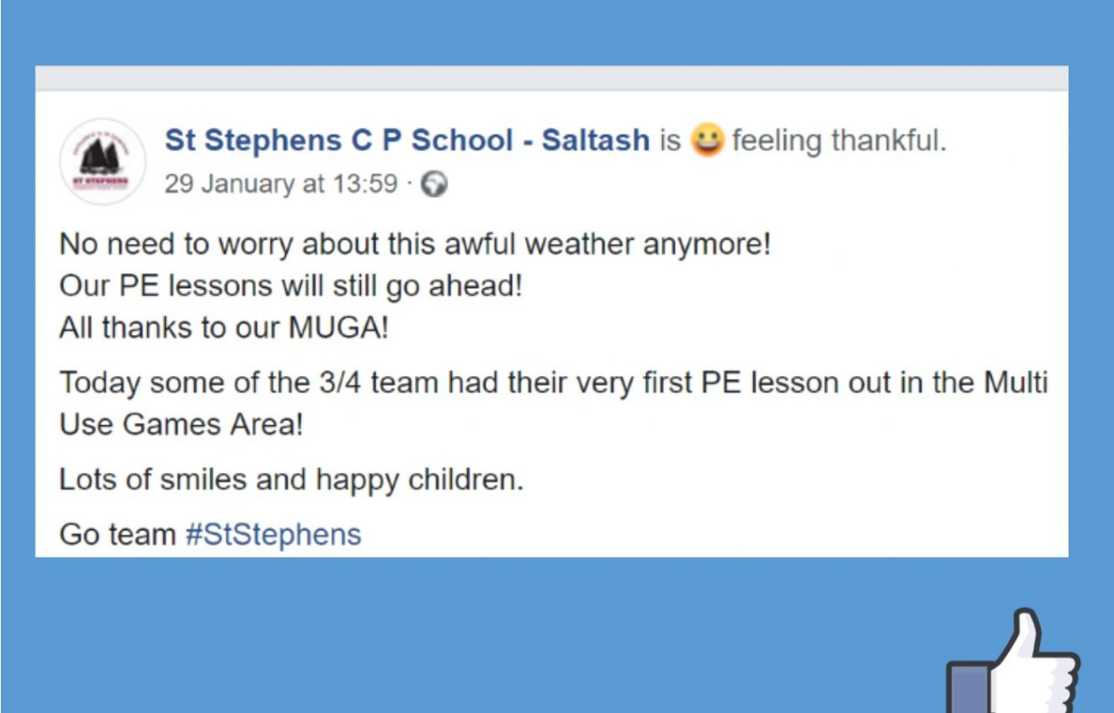 St Stephens School MUGA canopy facebook