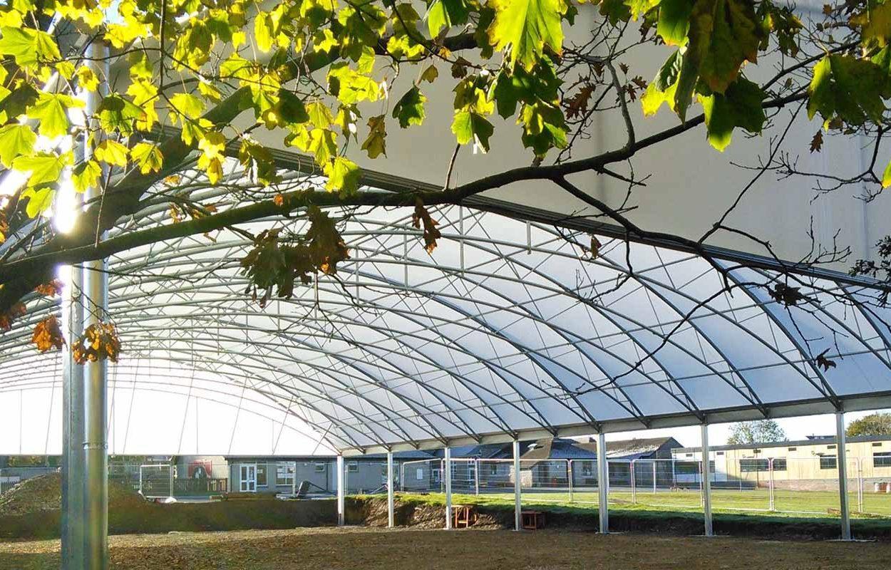 St Stephens School MUGA canopy web MID BUILD