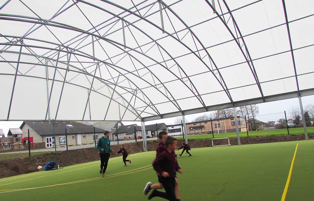 St Stephens School MUGA canopy web