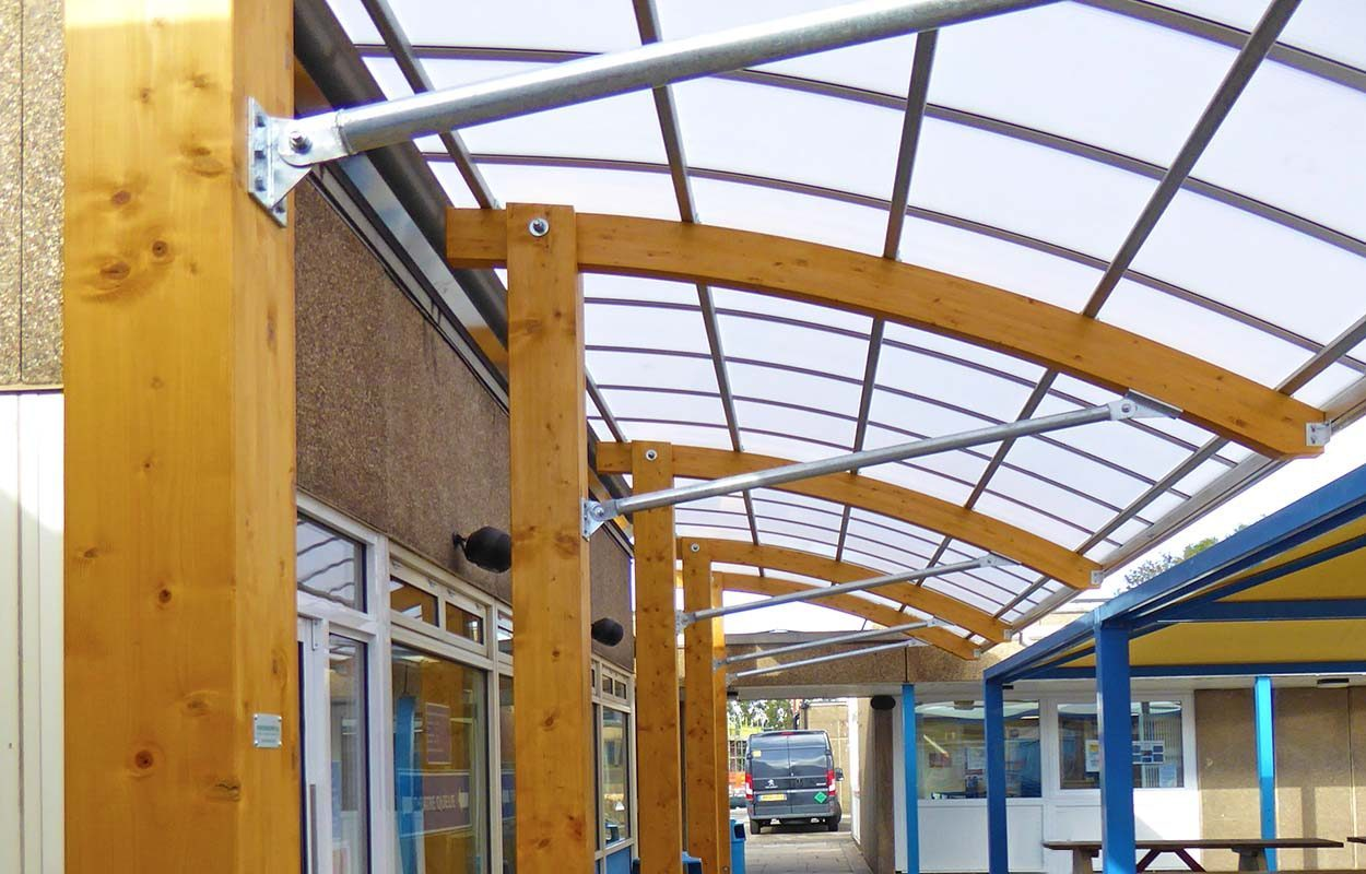 West Bridgford Fordingbridge timber cant canopy