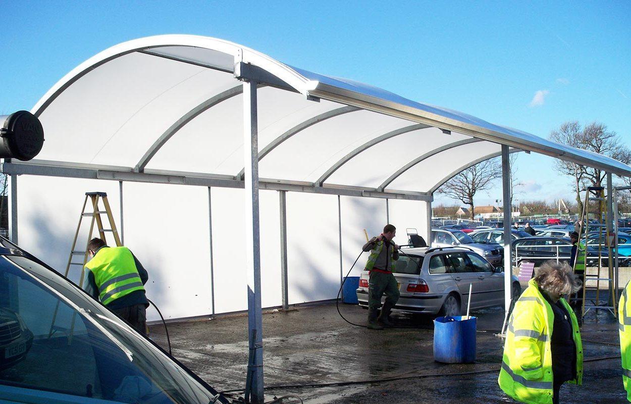 Fordingbridge Car Wash Barrel Vault Canopy