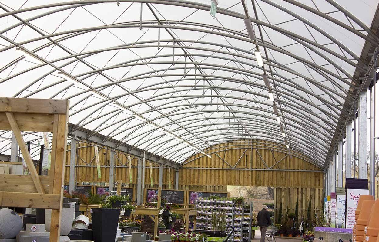 Morton Hall Klondyke Garden Centre Canopy by Fordingbridge Canopies - interior 2