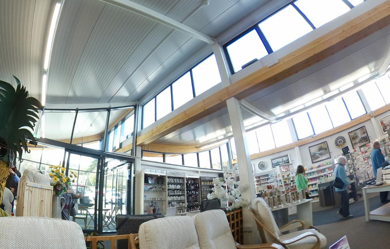 Rosebank Garden Centre - A Fordingbridge Statement Building Interior Main Entrance
