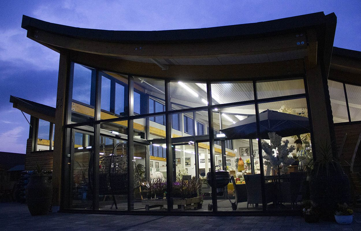 Rosebank Garden Centre - A Fordingbridge Statement Building at night 2