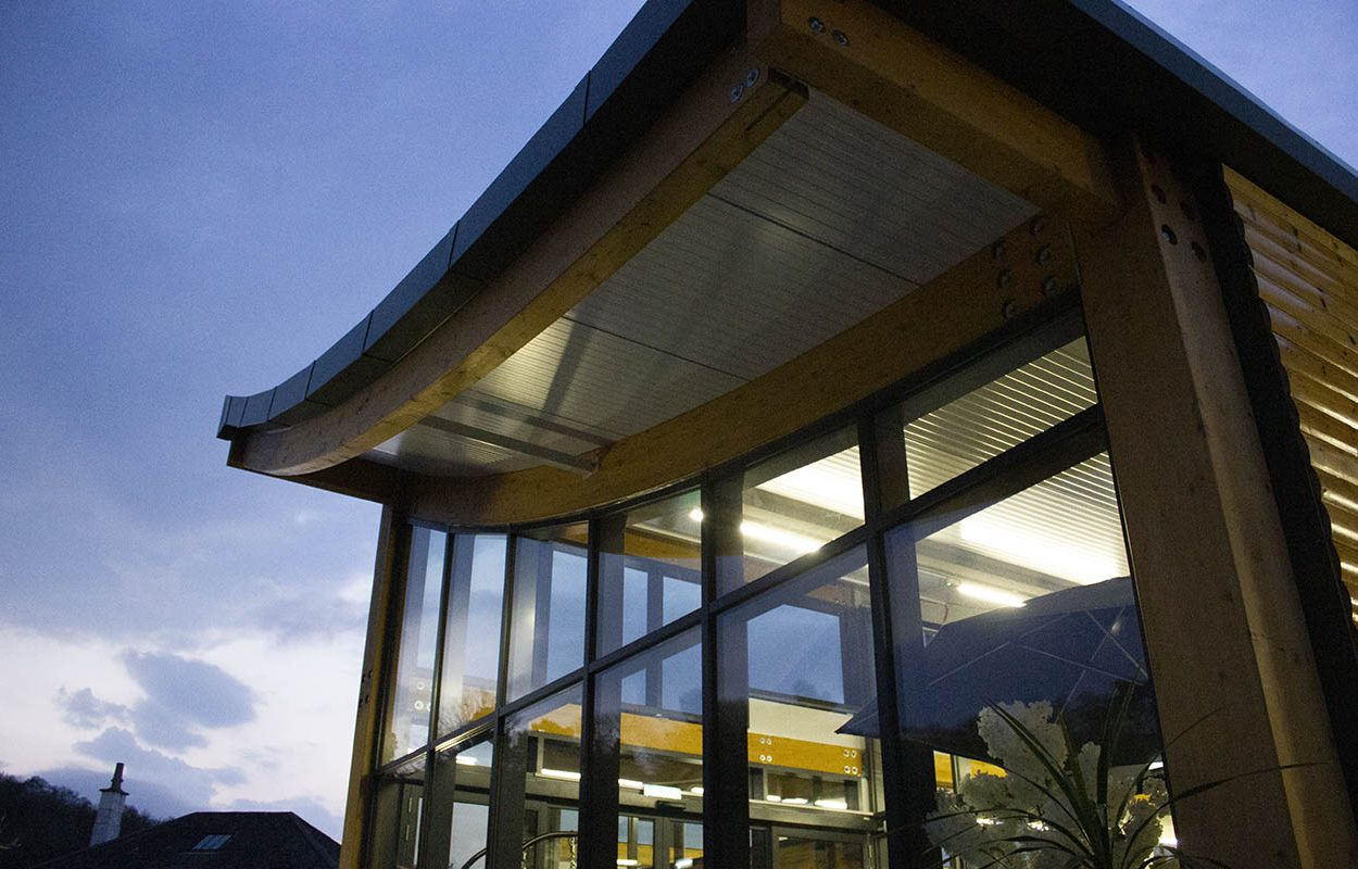 Rosebank Garden Centre - A Fordingbridge Statement Building at night 3