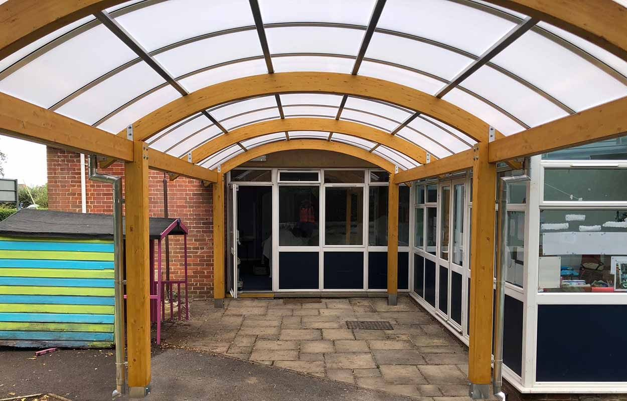 St Andrews Primary School Timber Canopy