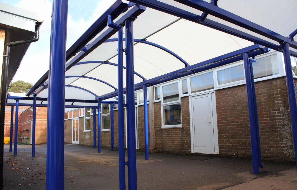 St Michaels Wimborne - modular classroom canopy