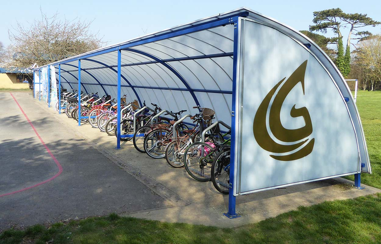 Gomer Junior School –  Semi-enclosed Bicycle Shelter