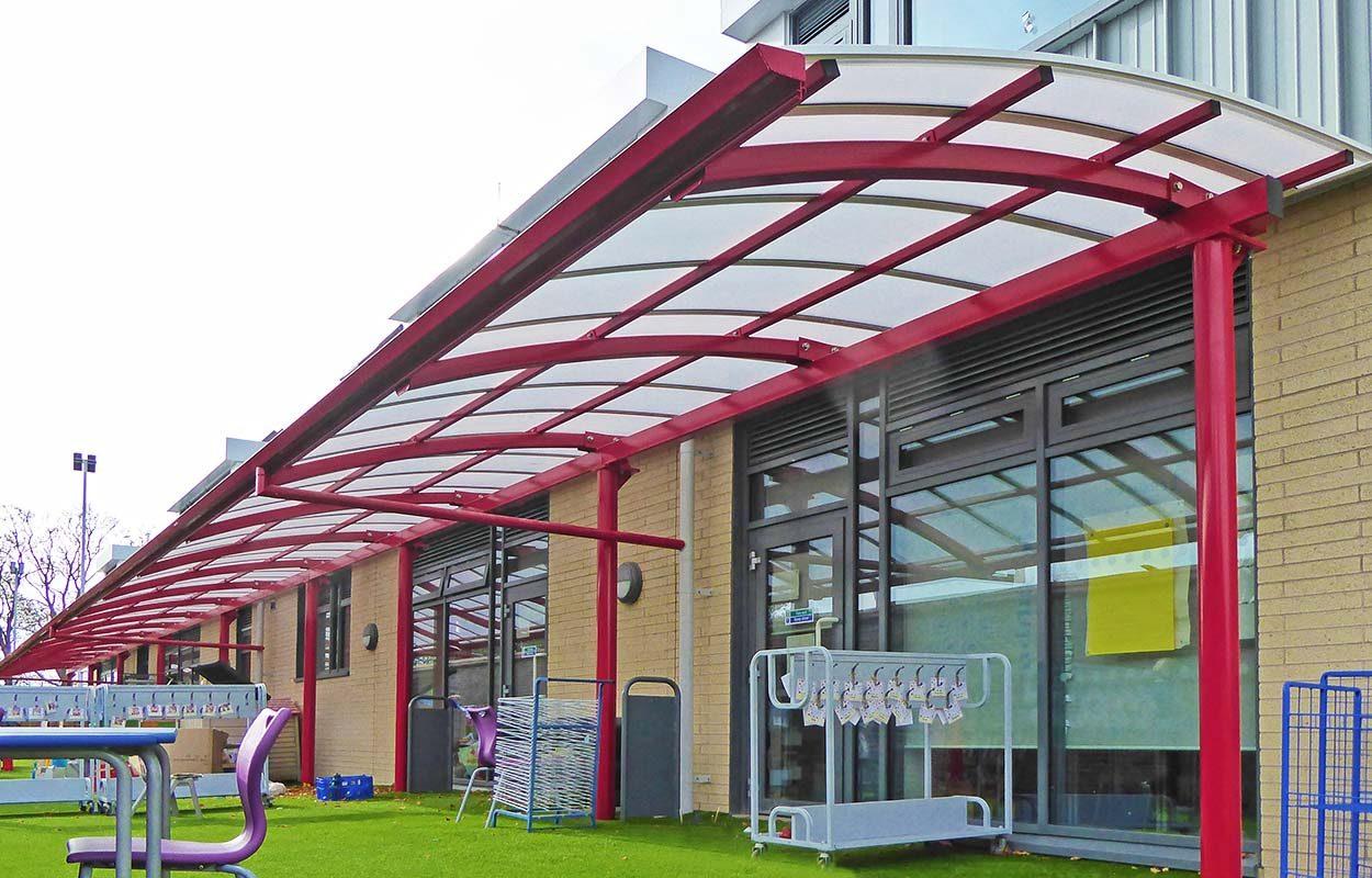 Chichester Free School Fordingbridge Steel canopy
