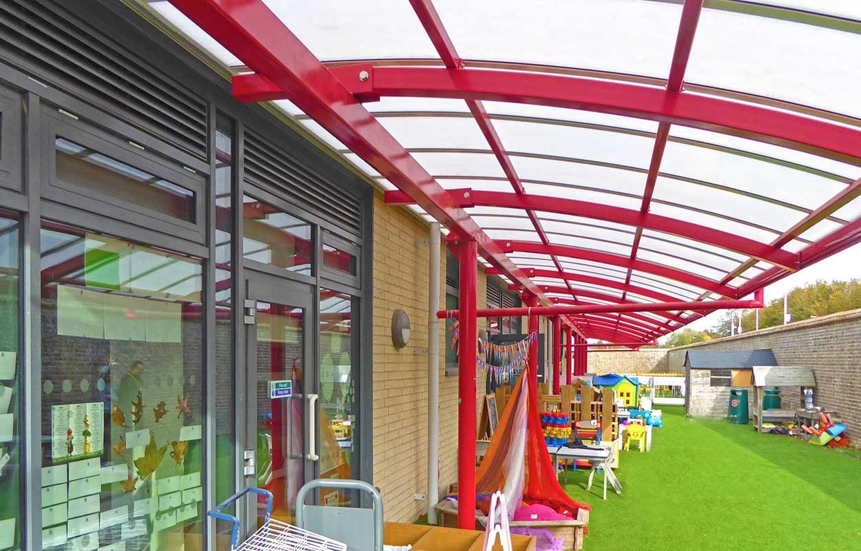 Chichester Free School Fordingbridge Steel canopy 2