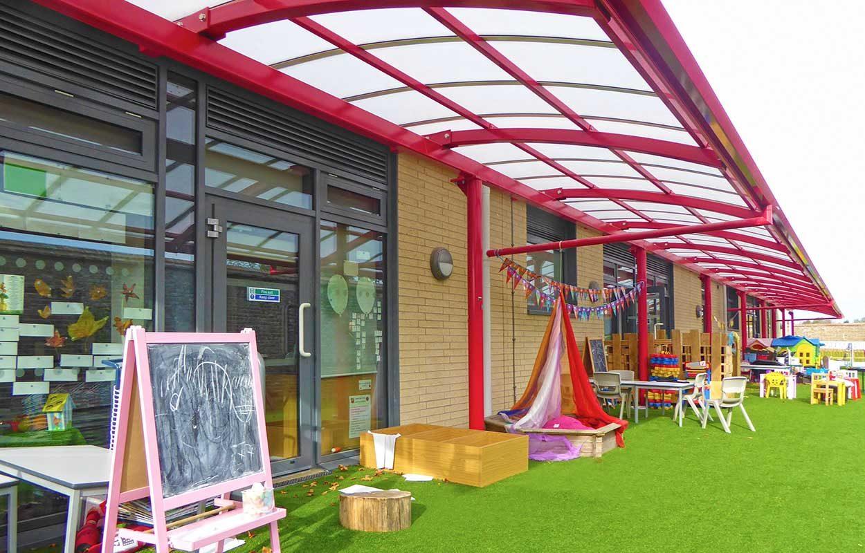 Chichester Free School Fordingbridge Steel canopy 3