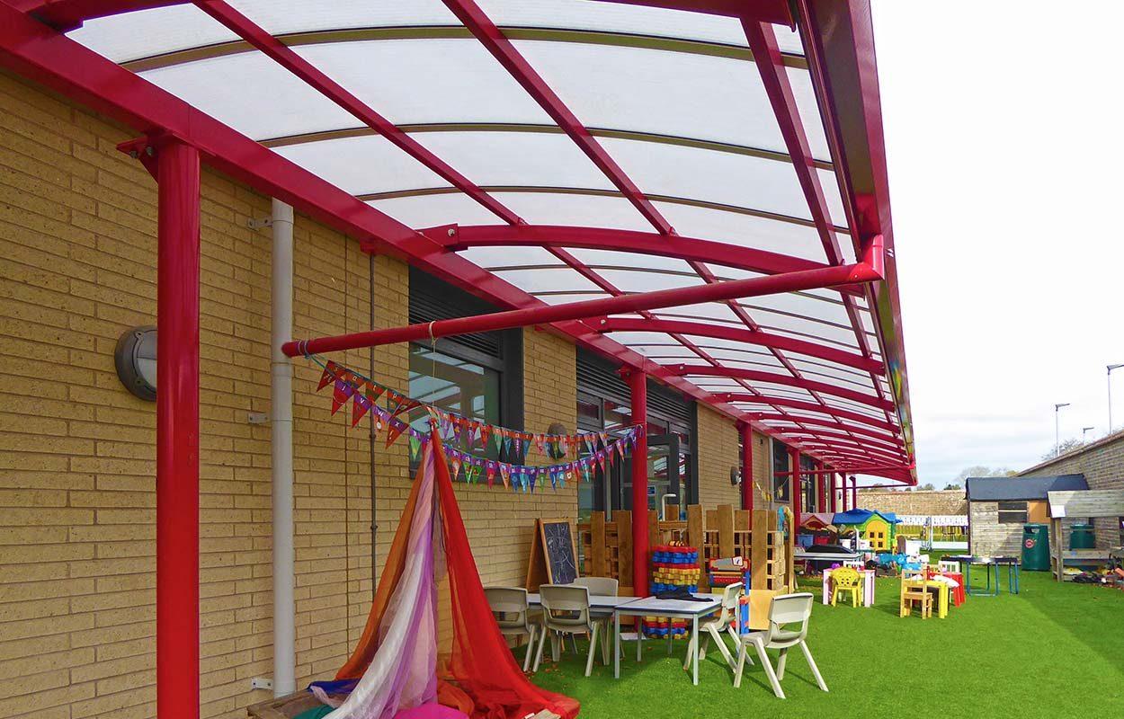 Chichester Free School Fordingbridge Steel canopy 4