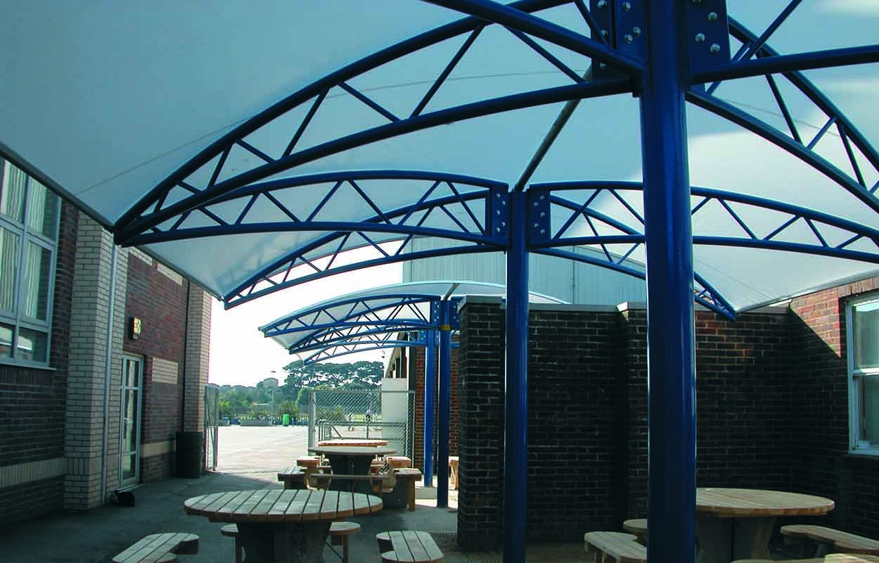 Fordingbridge Steel Canopy Angmering School 2
