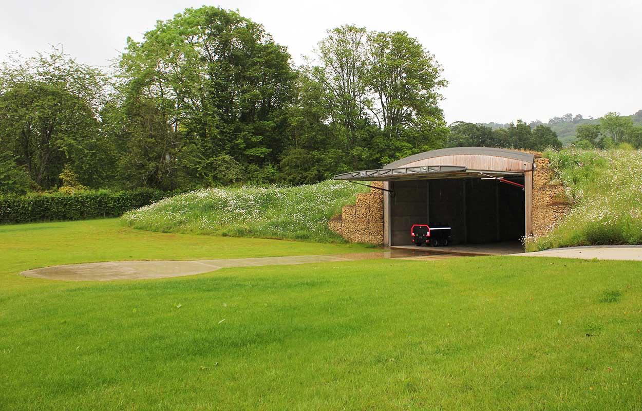 Underground Helicopter Hangar