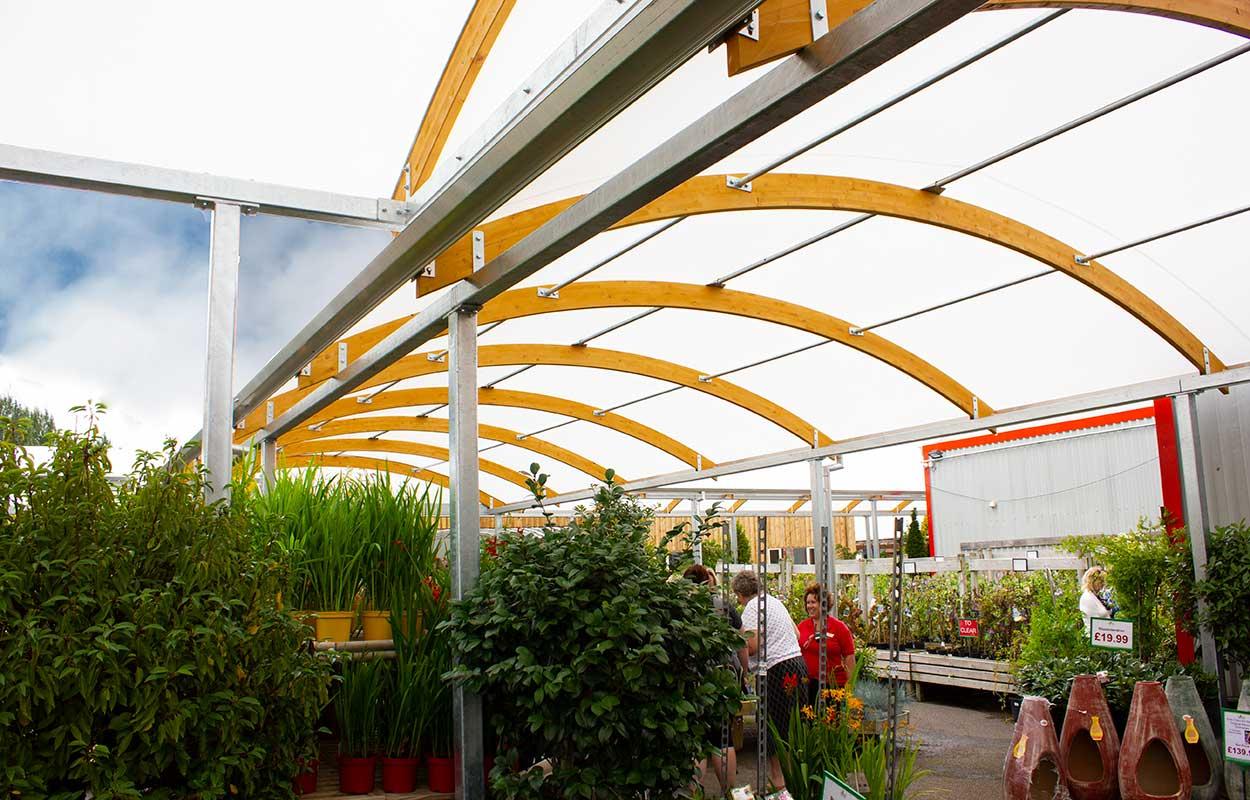 Brigg Garden Centre – Covered Walkway