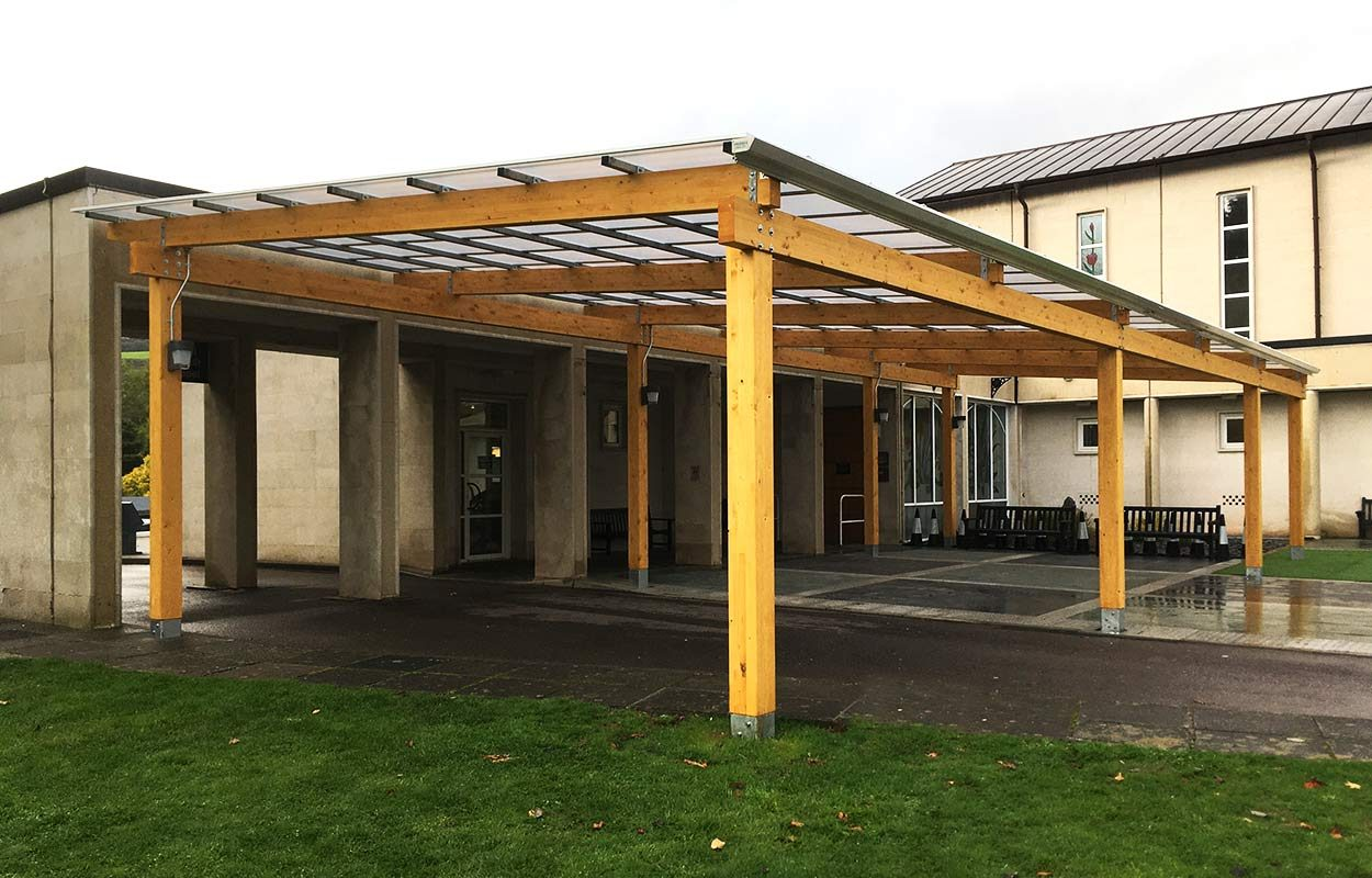 Thornhill-Crematorium-Porte-Cochere-timber-canopy-2b