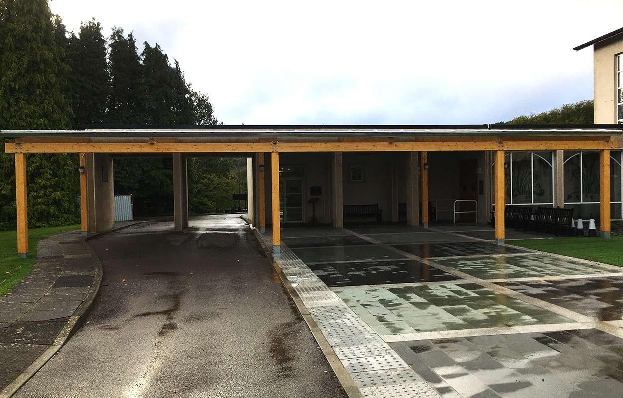 Thornhill-Crematorium-Porte-Cochere-timber-canopy-2c