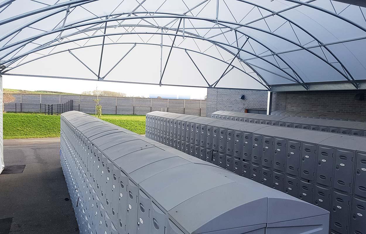 Walton High School – Covered lockers