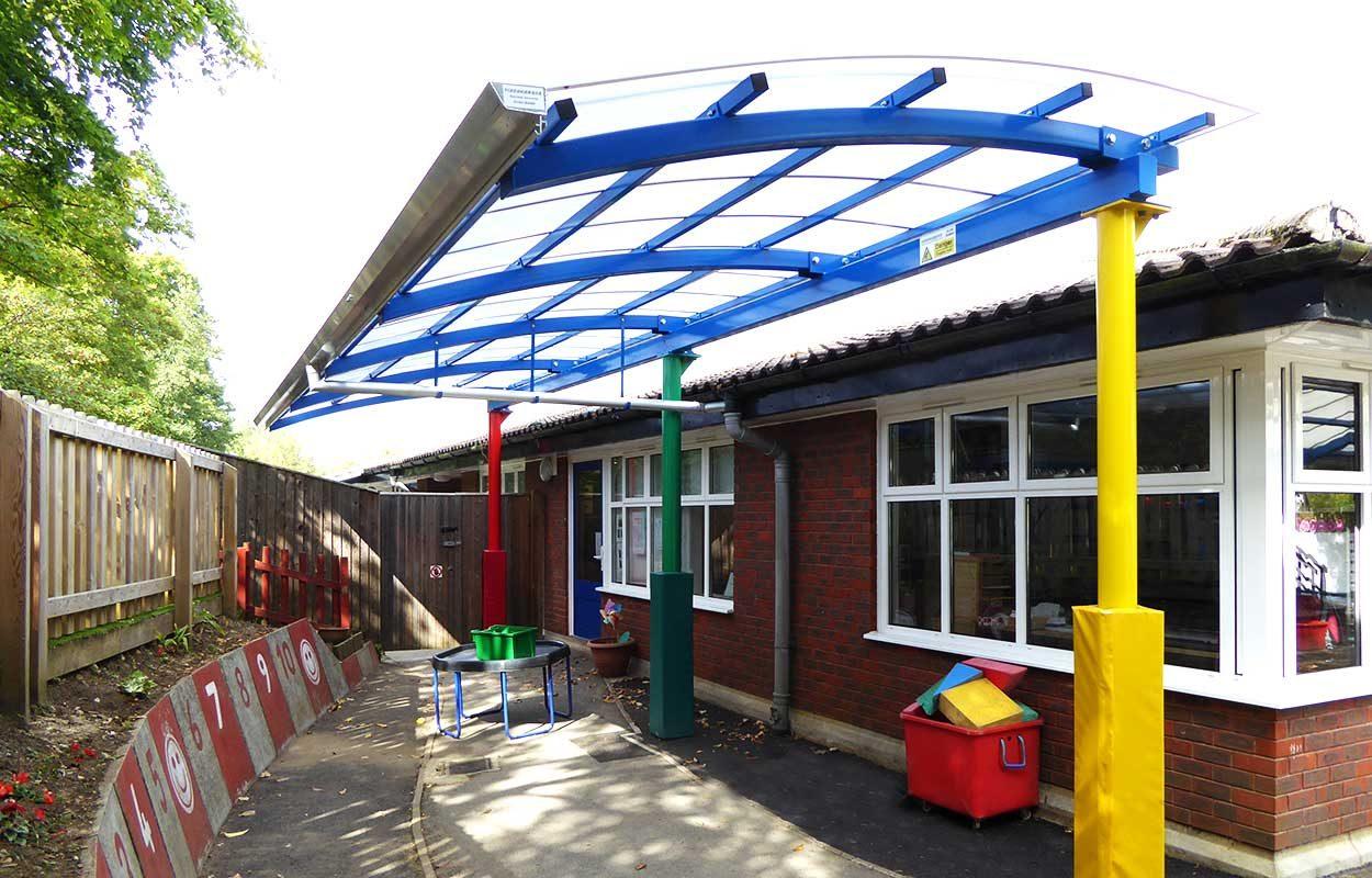 Bordon-school-multi-colour-canopy-by-Fordingbridge