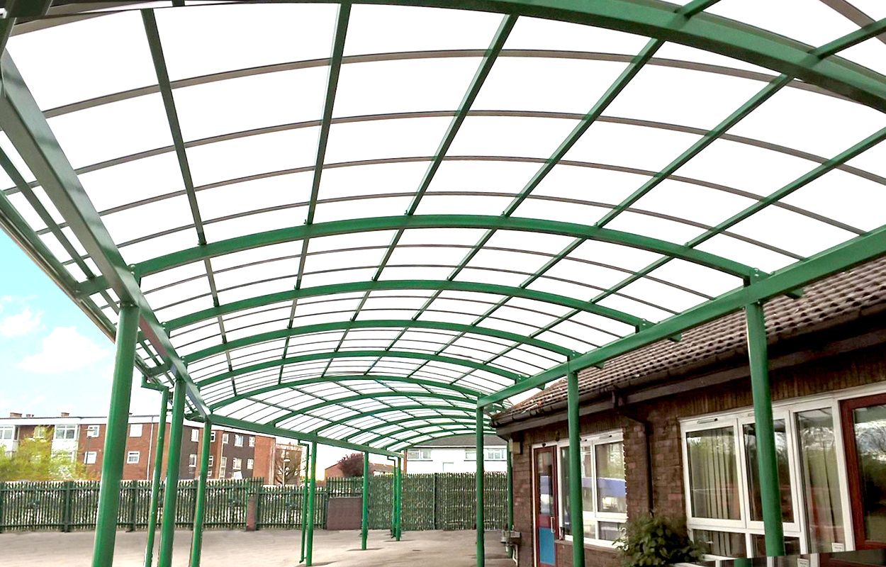 Iver Village Infant School Walkway Canopy