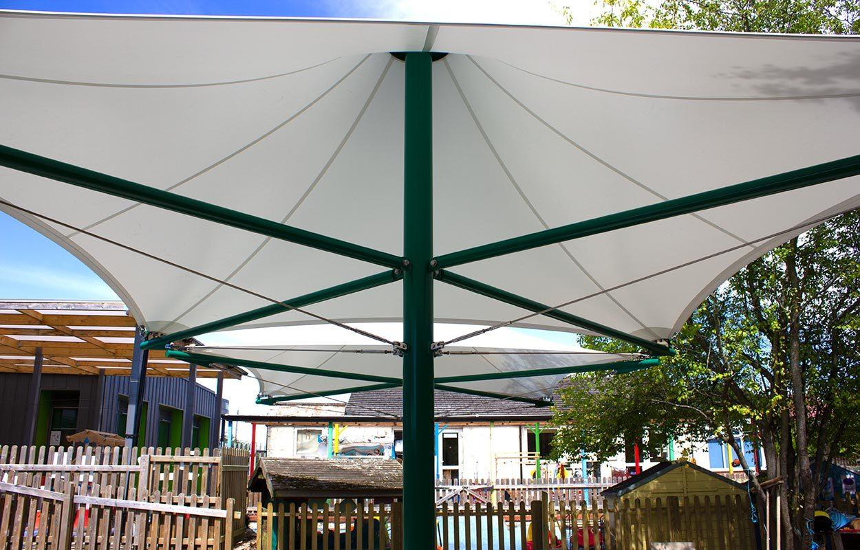 Hawedale-Primary-School-Green-Conic-Tensile-Canopy-by-Fordingbridge-3