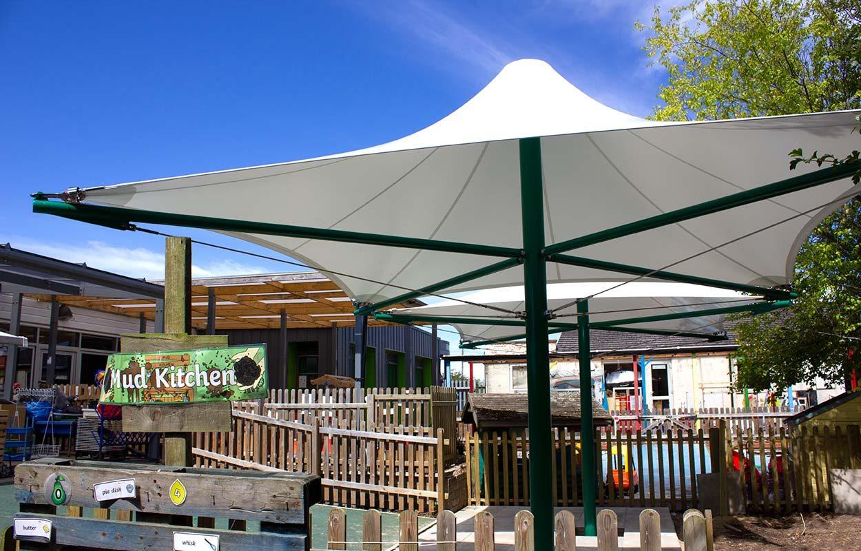 Hawedale-Primary-School-Green-Conic-Tensile-Canopy-by-Fordingbridge-4